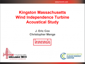 wind power, wind turbine, acoustical study, turbine acoustical study, kingston ma, internoise, hmmh, presentation