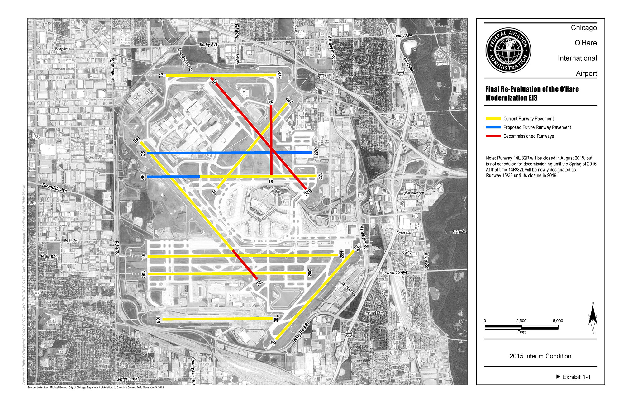 Re-Evaluation of the Chicago O'Hare Modernization EIS