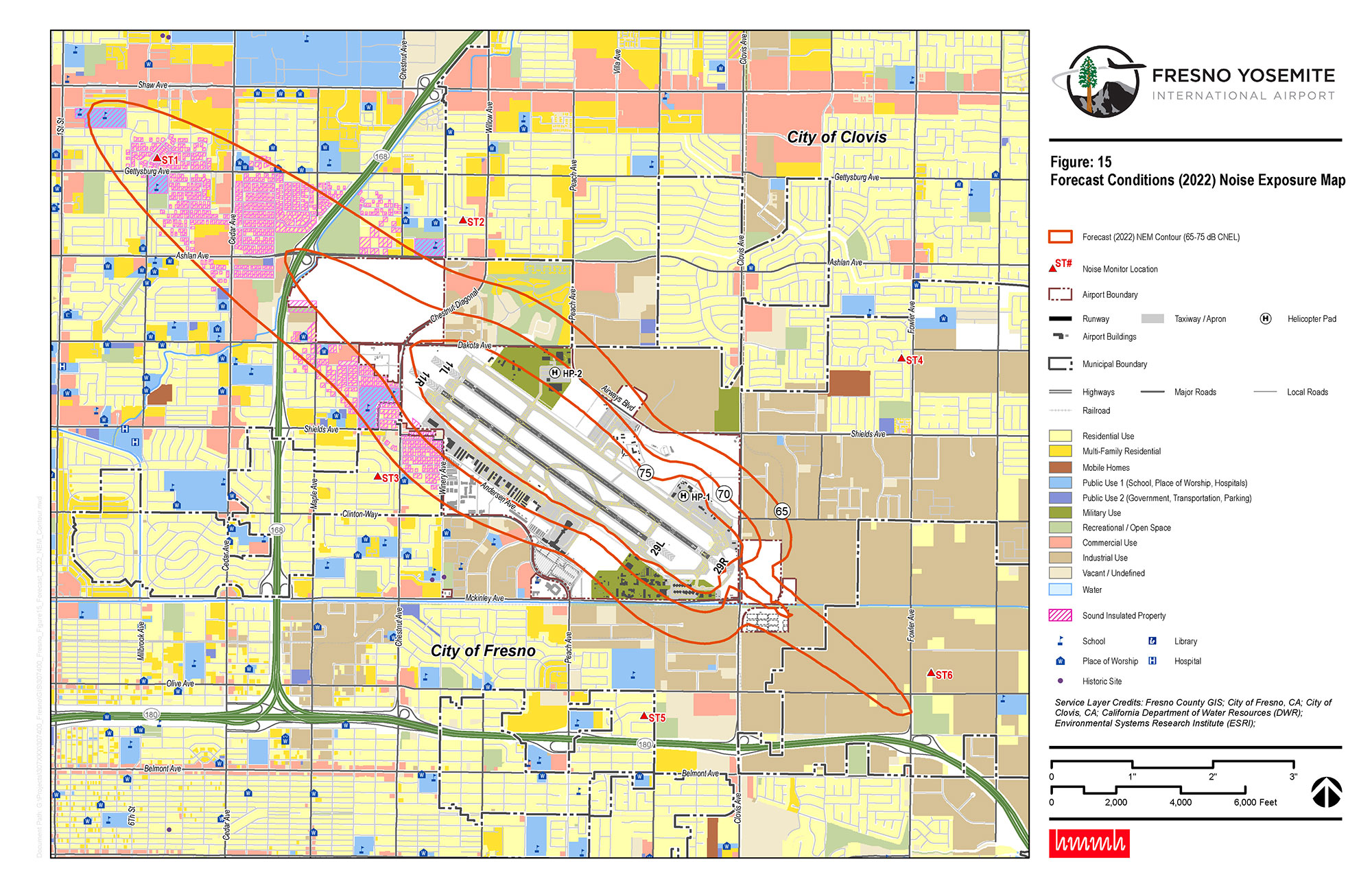 Noise Compatibility Planning (Part 150) Studies, Fresno Yosemite International Airport
