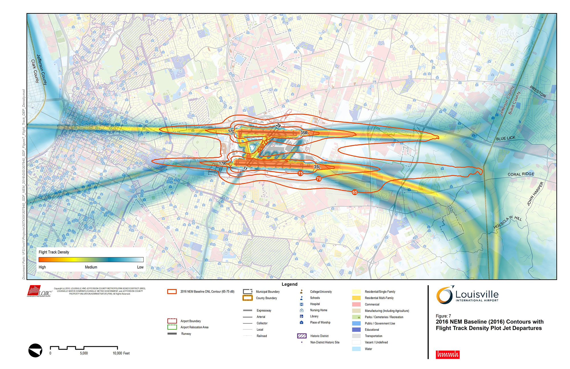 Noise Exposure Map (Part 150) Updates, Louisville International Airport