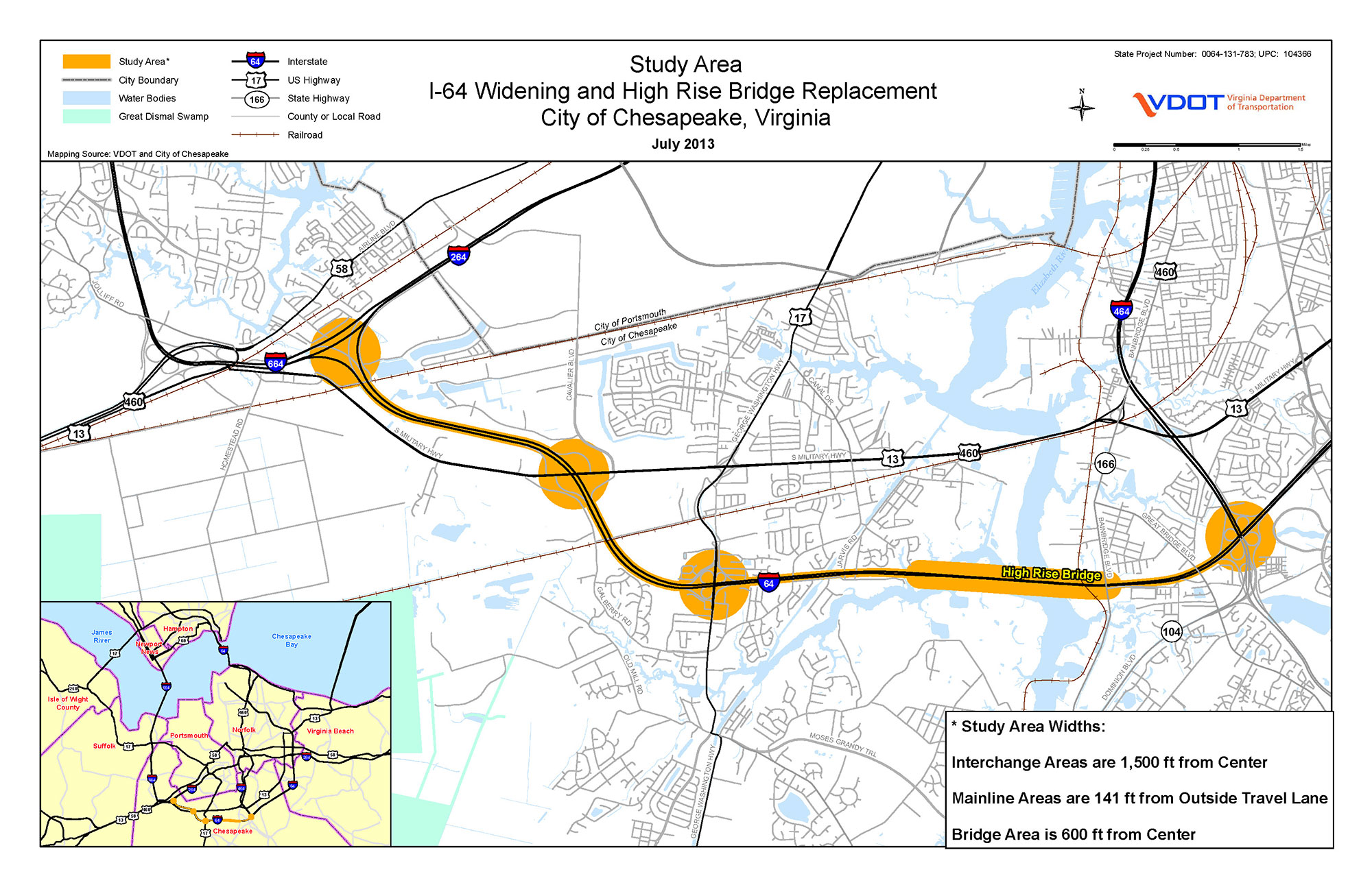 VDOT I-64 High Rise Bridge Corridor Study