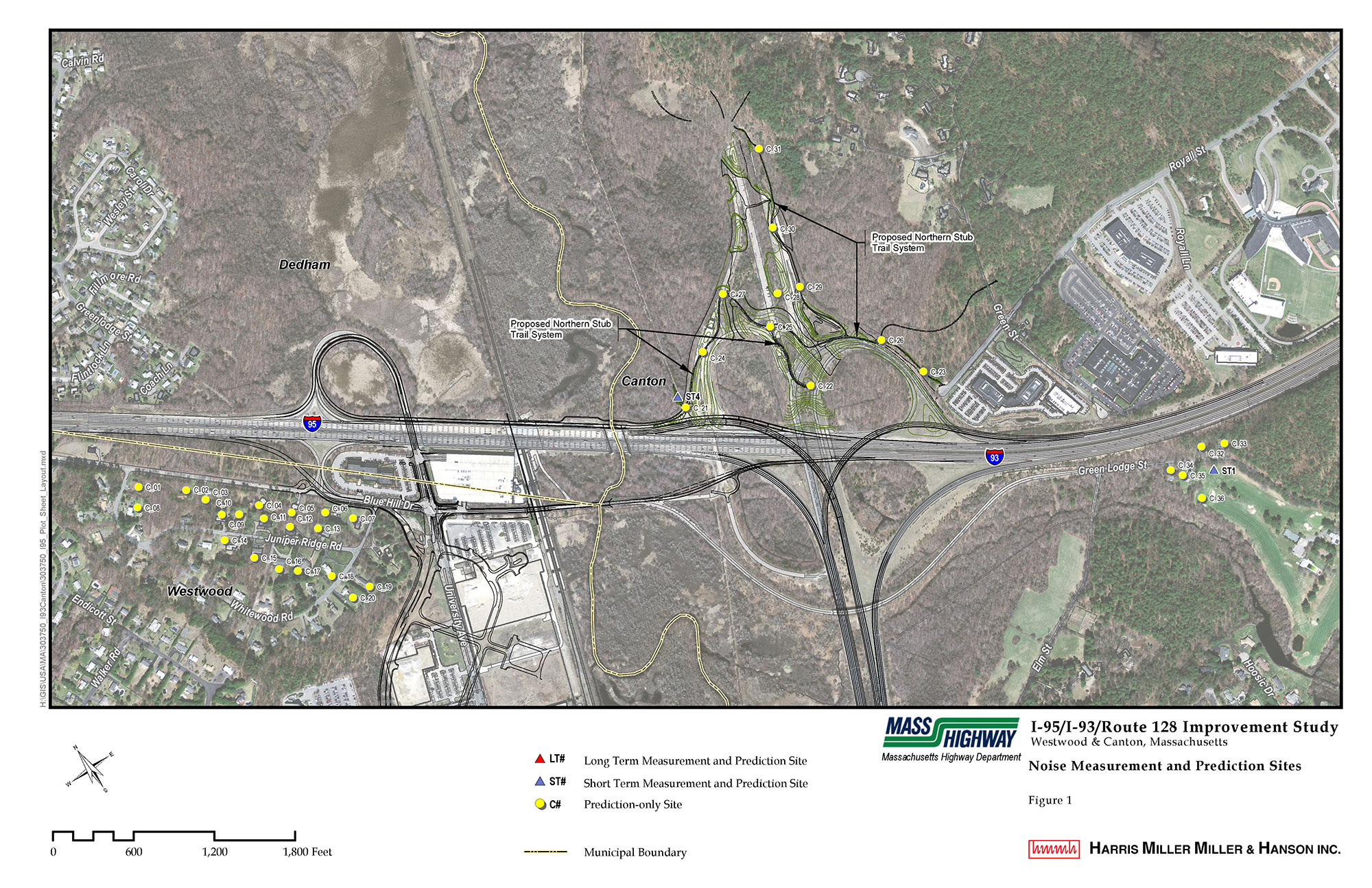 MassDOT I-93 and I-95 Improvements Study Noise Analysis and Abatement Evaluation