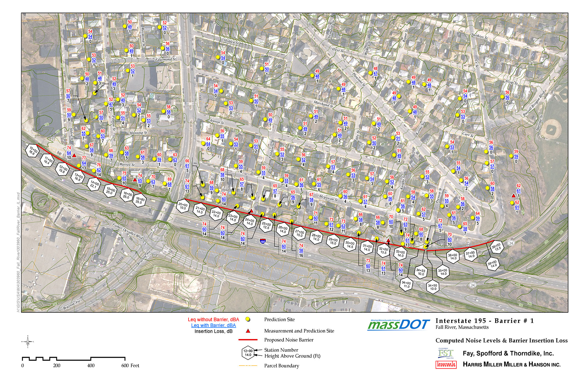 MassDOT I-195 Fall River Noise Abatement Design Study
