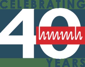 HMMH 40th Anniversary logo